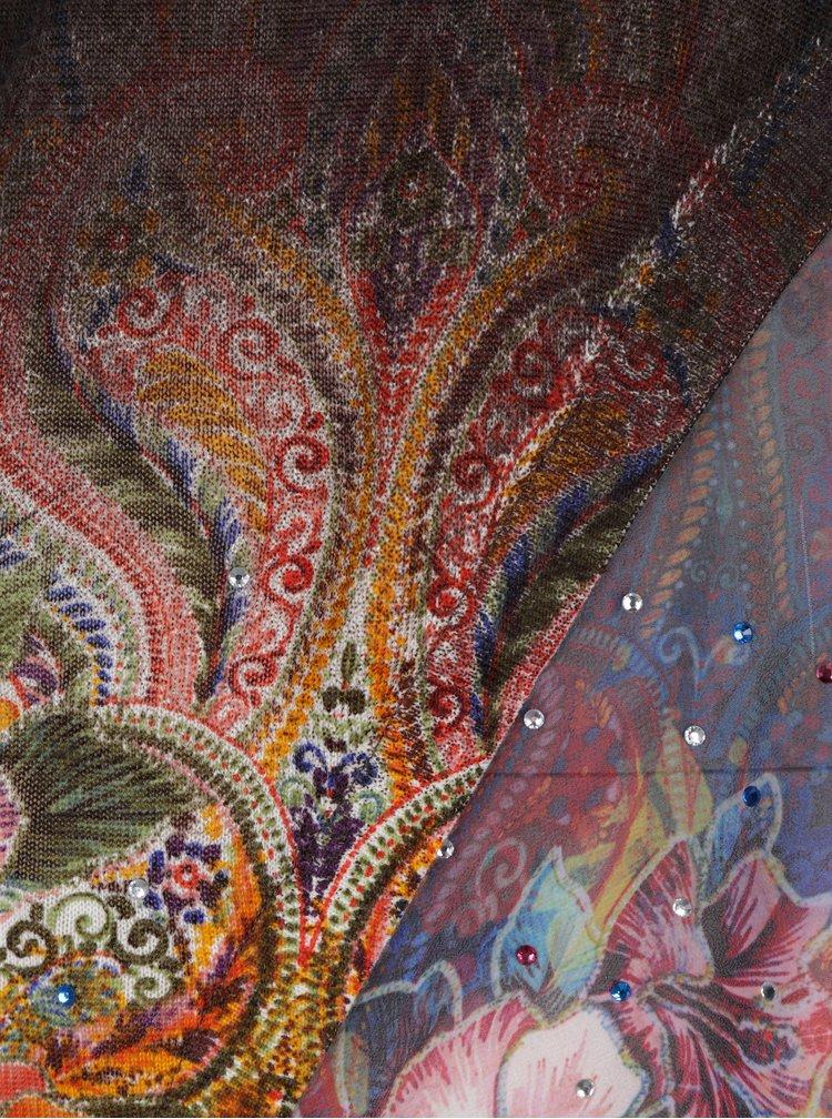 Helanca asimetrica cu imprimeu floral - Desigual Long Freya