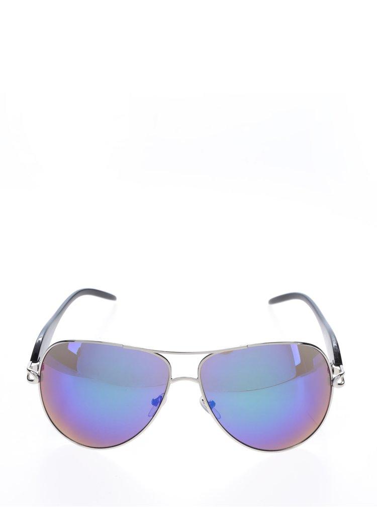 Fialové sluneční brýle s obroučkami v černé barvě Haily's Ibiza