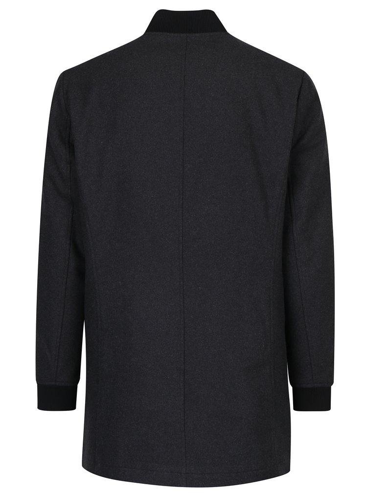 Tmavě šedý kabát ONLY & SONS Brahim