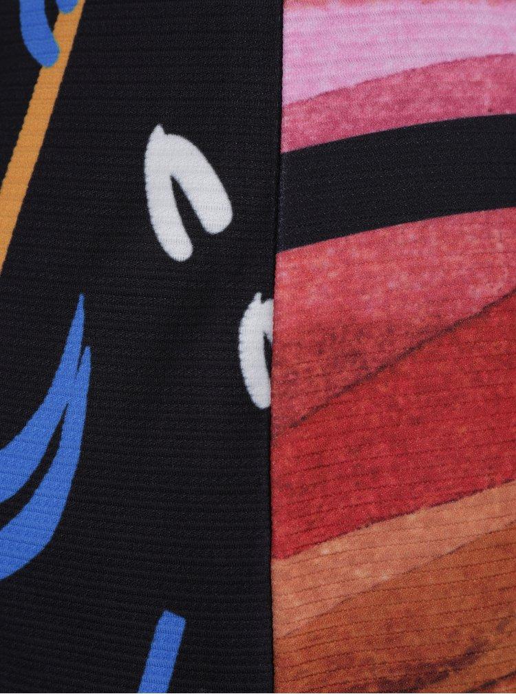 Černé pruhované šaty s krátkým rukávem Desigual Second