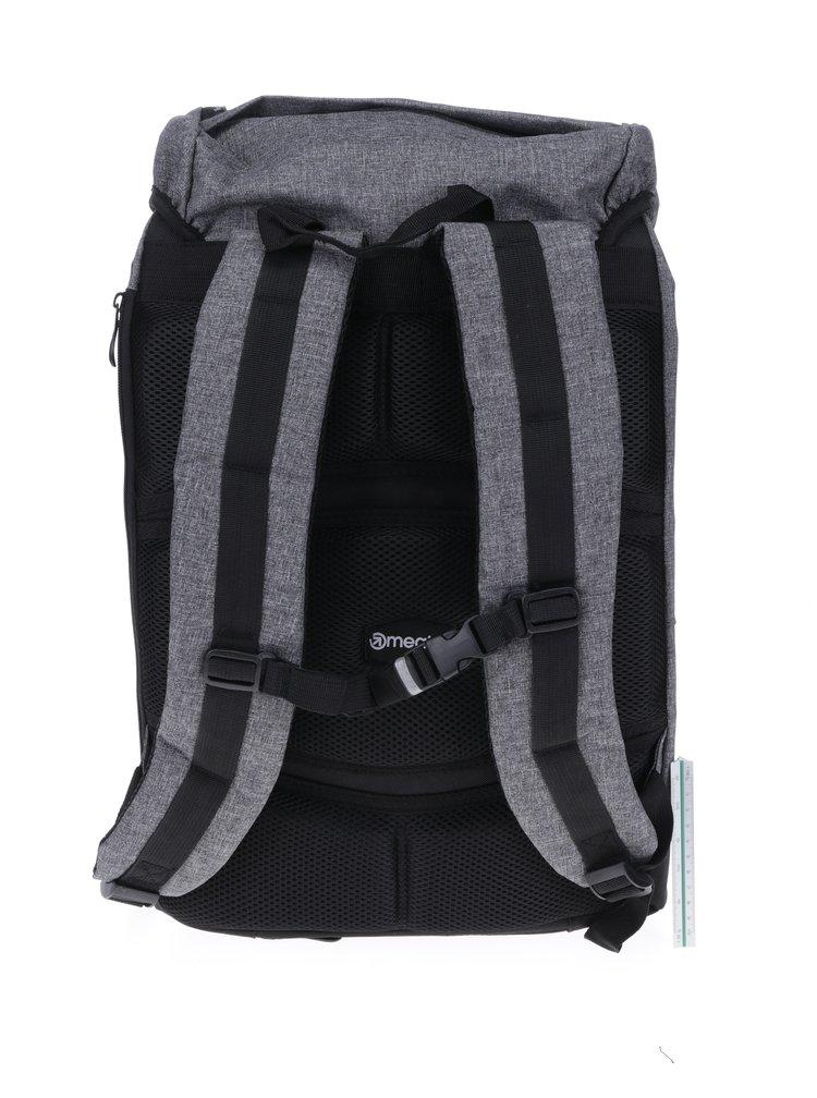 Šedý žíhaný batoh Meatfly Pioneer 2 26 l