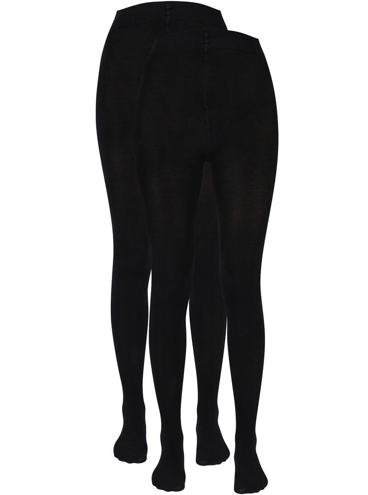 Sada dvou černých těhotenských punčochových kalhot Mama.licious Jennie