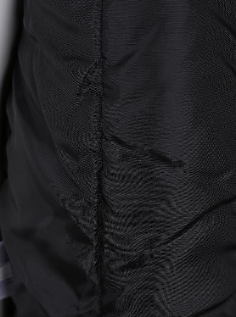Černá vzorovaná klučičí bunda s kapucí Name it Mellon