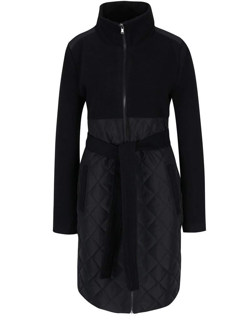Čierny tehotenský kabát s prešívanými detailmi Mama.licious New Giggi