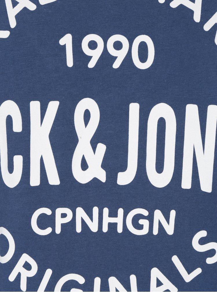 Modré tričko s potlačou Jack & Jones Carry