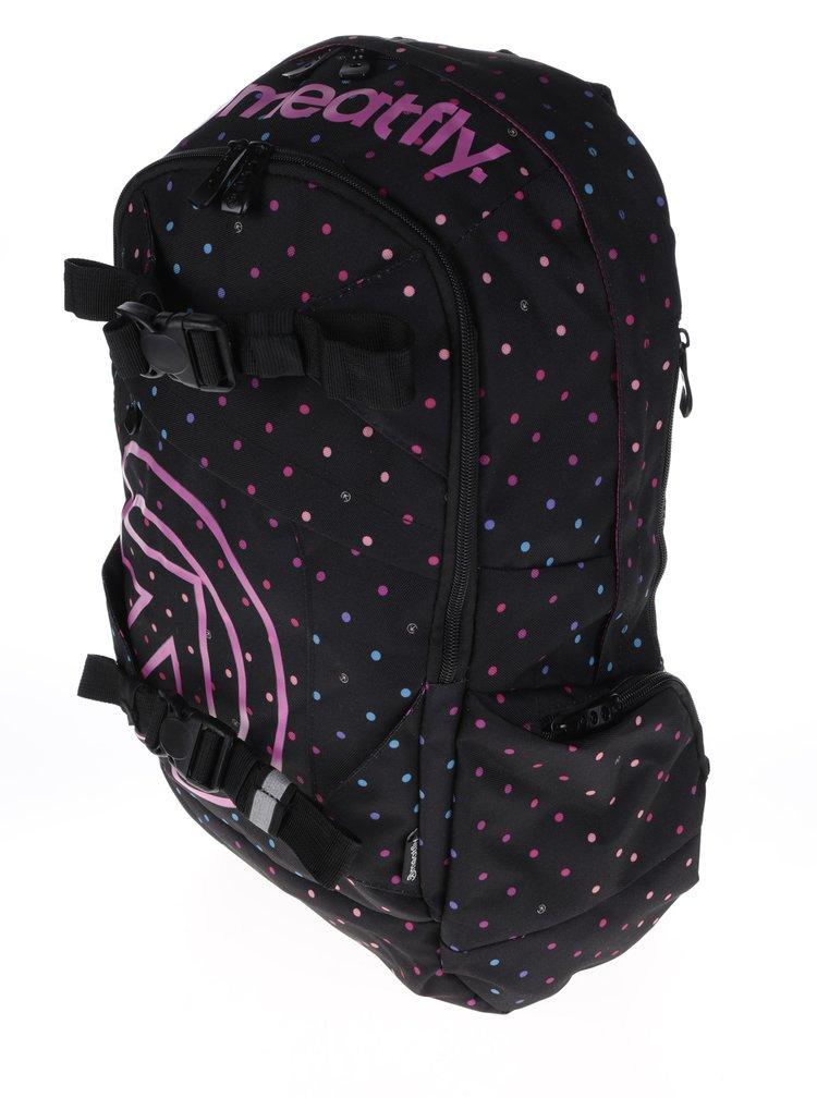 Růžovo-černý puntíkovaný batoh Meatfly Basejumper 3 20 l