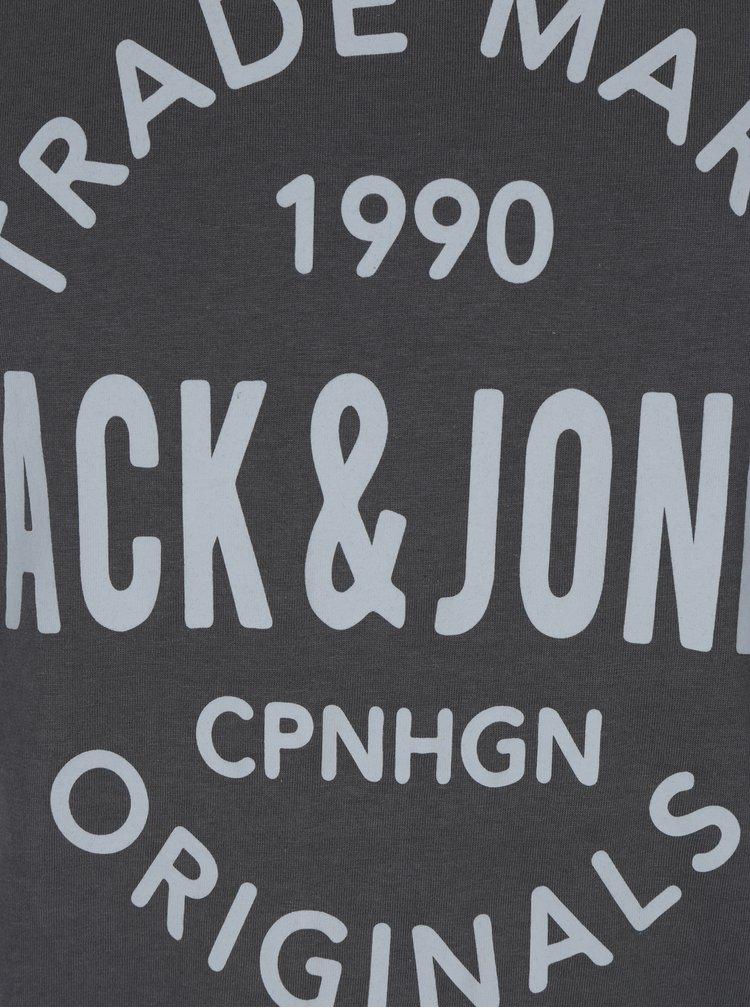 Zelené tričko s potalčou Jack & Jones Carry