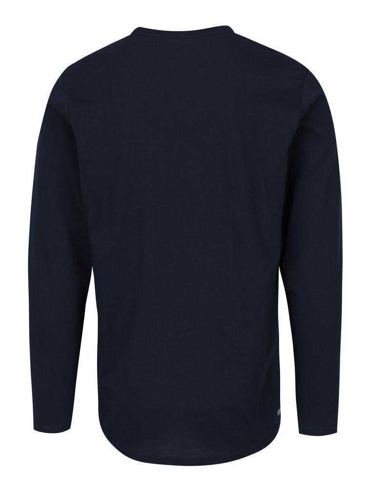 Tmavě modré tričko s dlouhým rukávem Jack & Jones Autumn