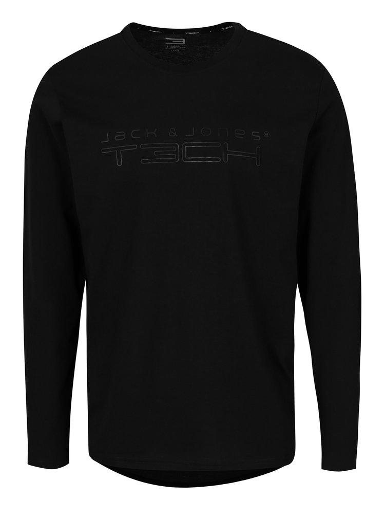 Černé tričko s dlouhým rukávem Jack & Jones Autumn