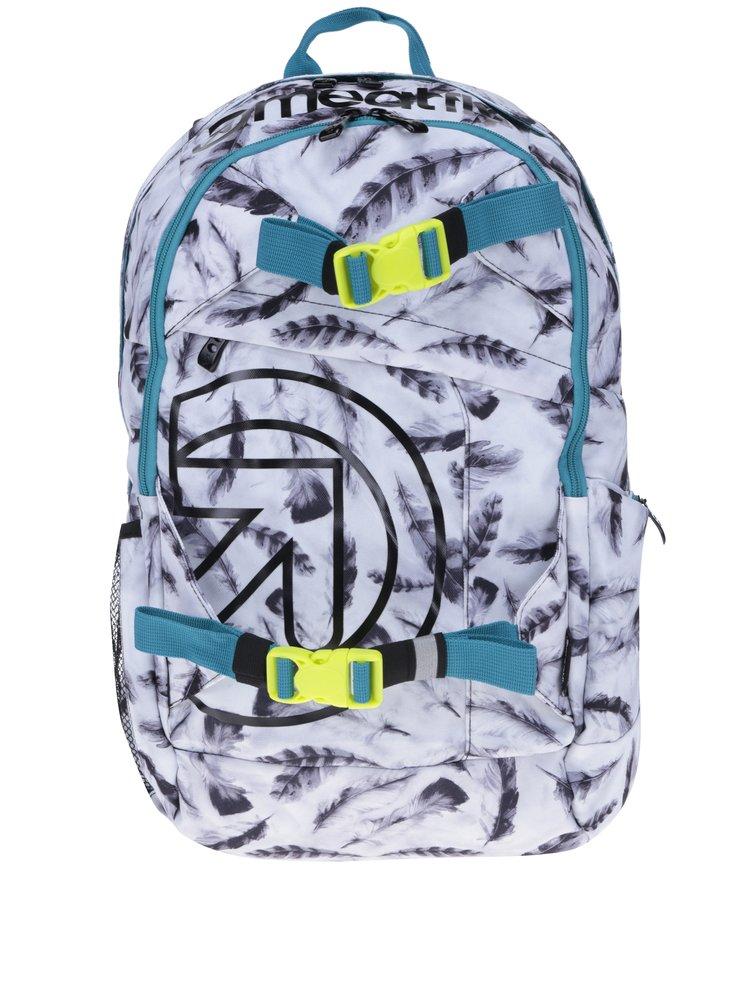Bílý dámský batoh s motivem pírek Meatfly Basejumper 3 20 l
