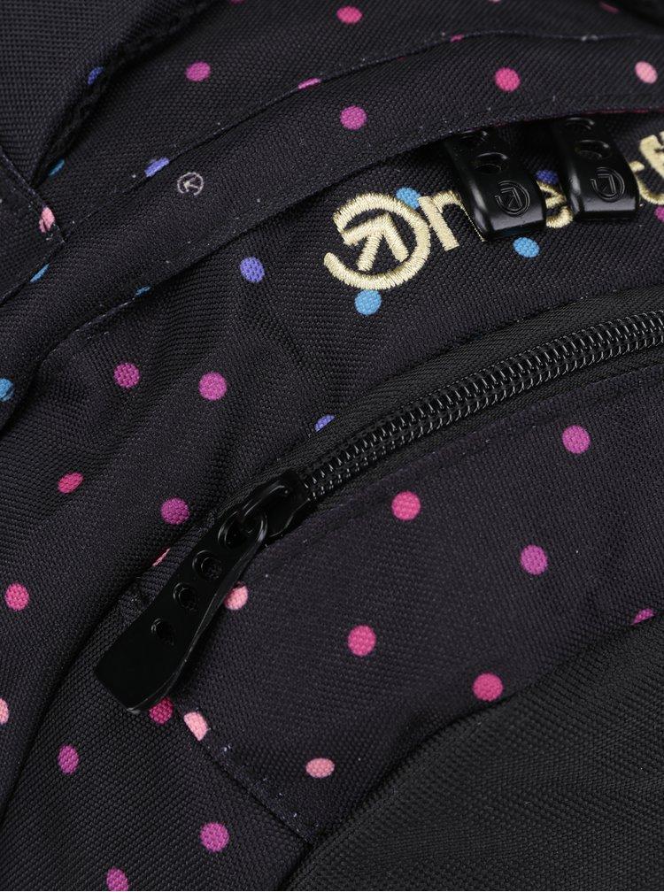 Růžovo-černý dámský puntíkovaný batoh Meatfly Exile 2 22 l