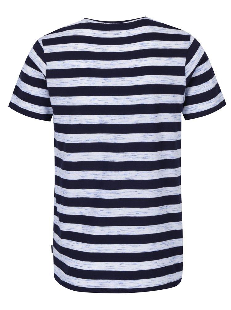 Modré pruhované tričko Jack & Jones Cinnema