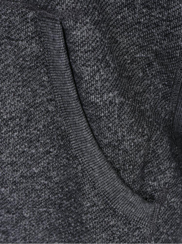 Tmavě šedá žíhaná mikina s kapucí Jack & Jones Josh