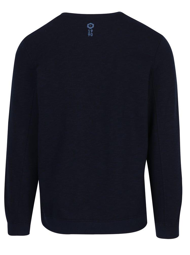 Bluza sport bleumarin cu logo print si cusaturi in relief Jack & Jones Mario