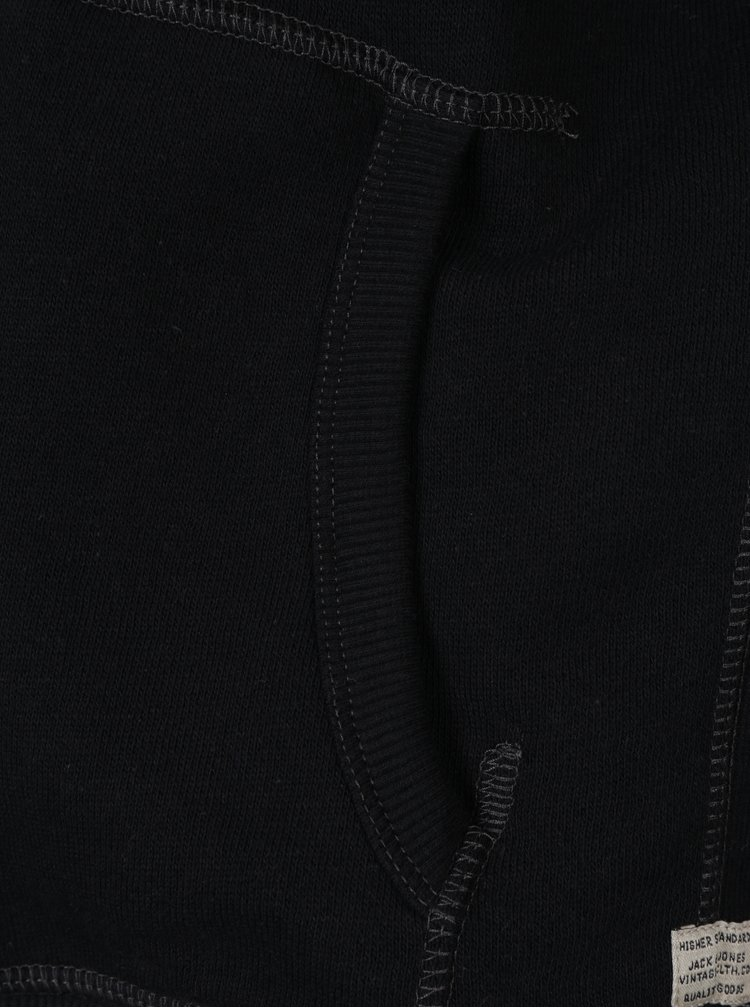 Čierna mikina na zips Jack & Jones Josh