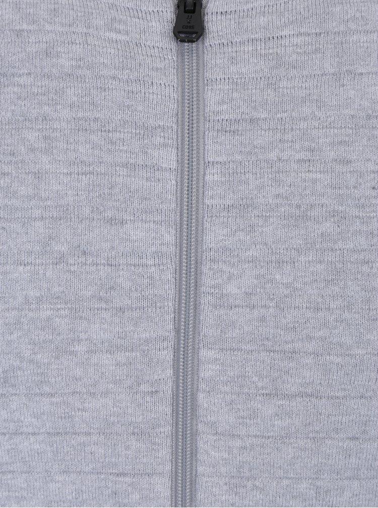 Světle šedý žebrovaný kardigan & Jones Hugo