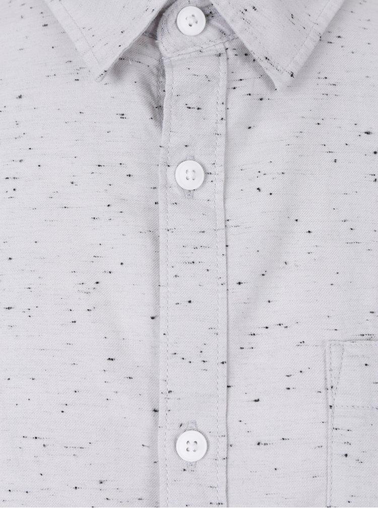 Cămașă gri deschis din bumbac pentru bărbați - Jack & Jones Sustain