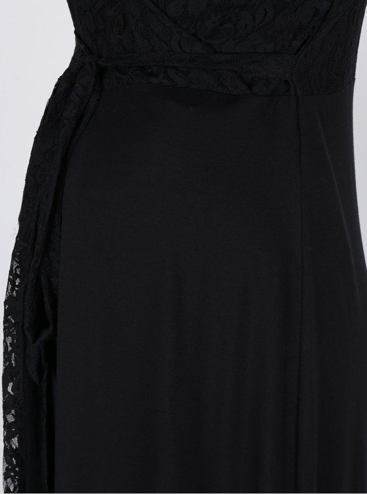 Černé těhotenské/kojicí šaty s krajkovými detaily Mama.licious Winnie
