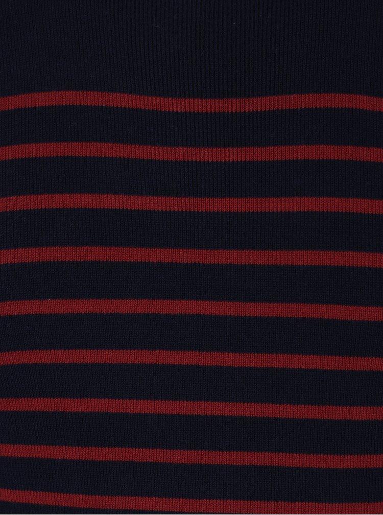Vínovo-modrý pruhovaný svetr Jack & Jones Premium Sailor