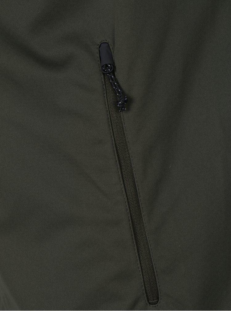 Kaki funkčná bunda s kapucňou Jack & Jones Flexi