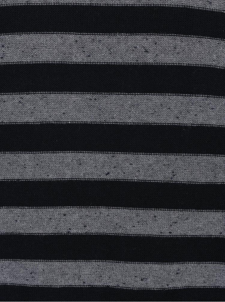 Šedo-černý pruhovaný svetr Jack & Jones Wall