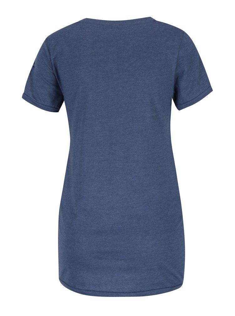 Modré tehotenské tričko s uzlom a potlačou Mama.licious Alicia