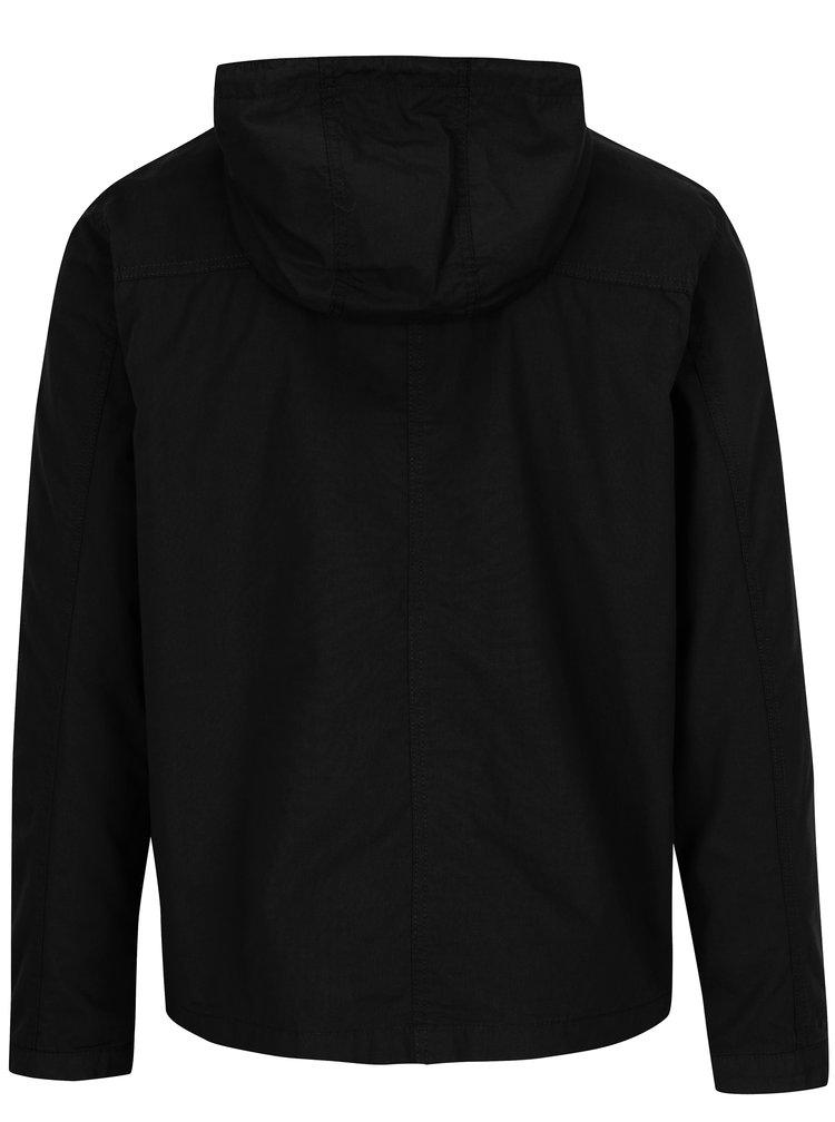Černá pánská bunda s kapucí Jack & Jones Floor