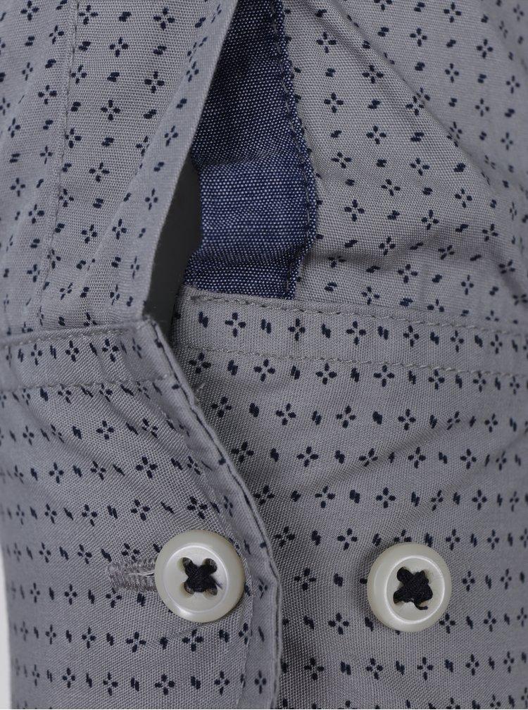 Camasa slim fit din bumbac albastru & gri -  Jack & Jones Bosco