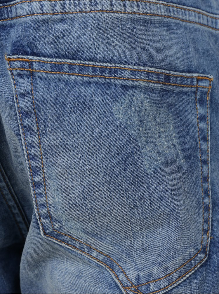 Modré slim fit džíny s potrhaným efektem ONLY & SONS Loom