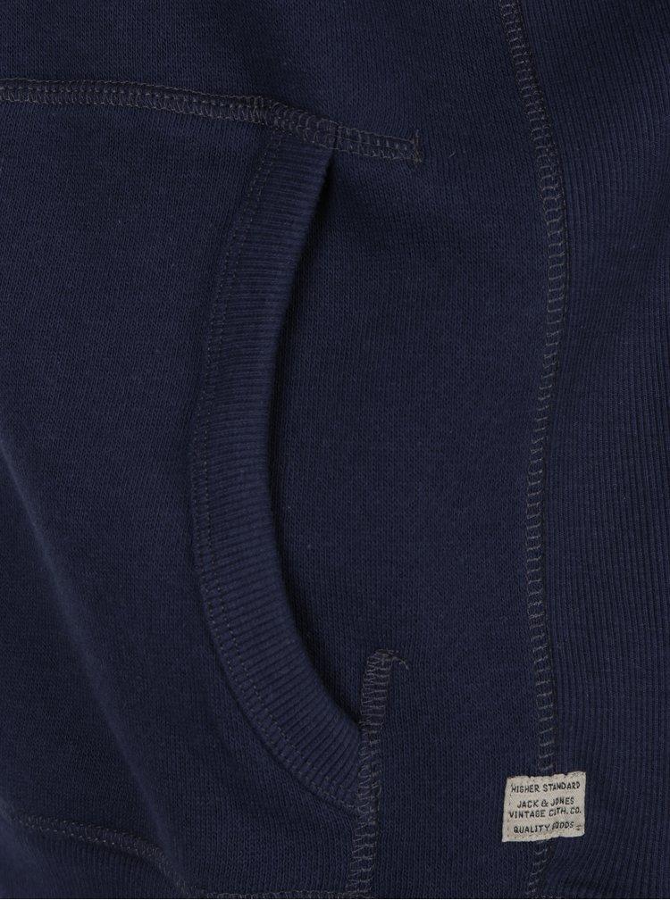 Tmavě modrá mikina na zip Jack & Jones Josh