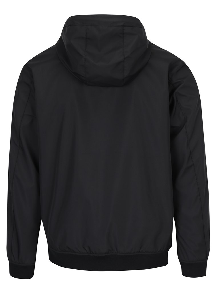 Černá nepromokavá bunda s kapucí Jack & Jones Max