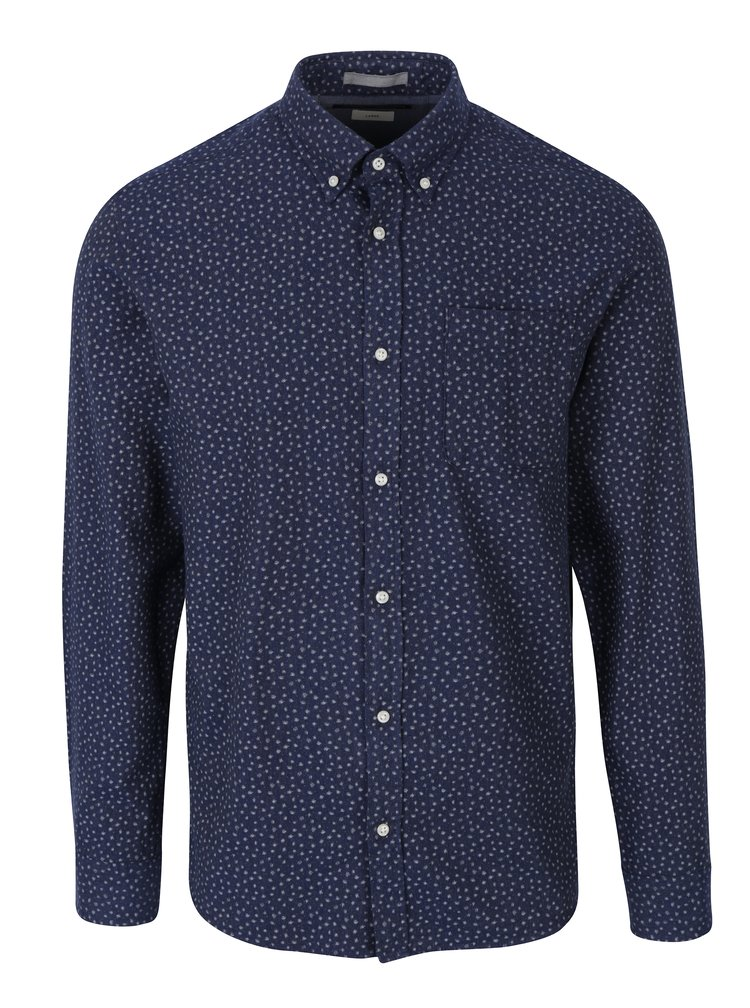 Camasa bleumarin cu print abstract si buzunar Jack & Jones Blue Fix