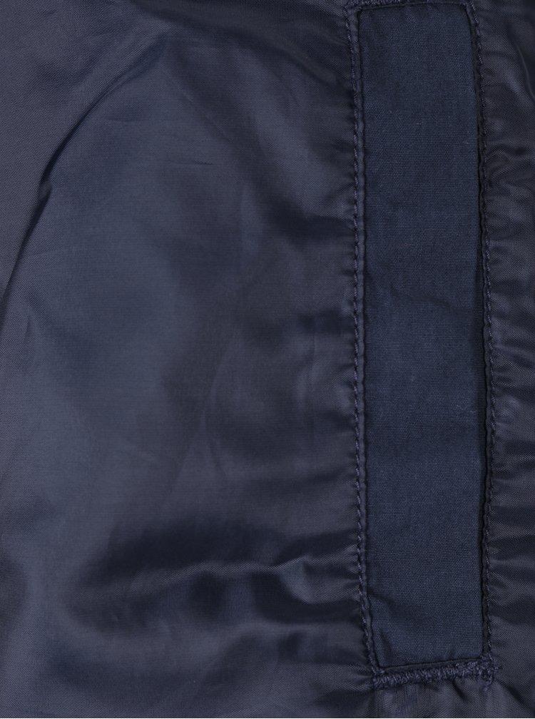 Tmavě modrá bunda s kapucí Jack & Jones Floor