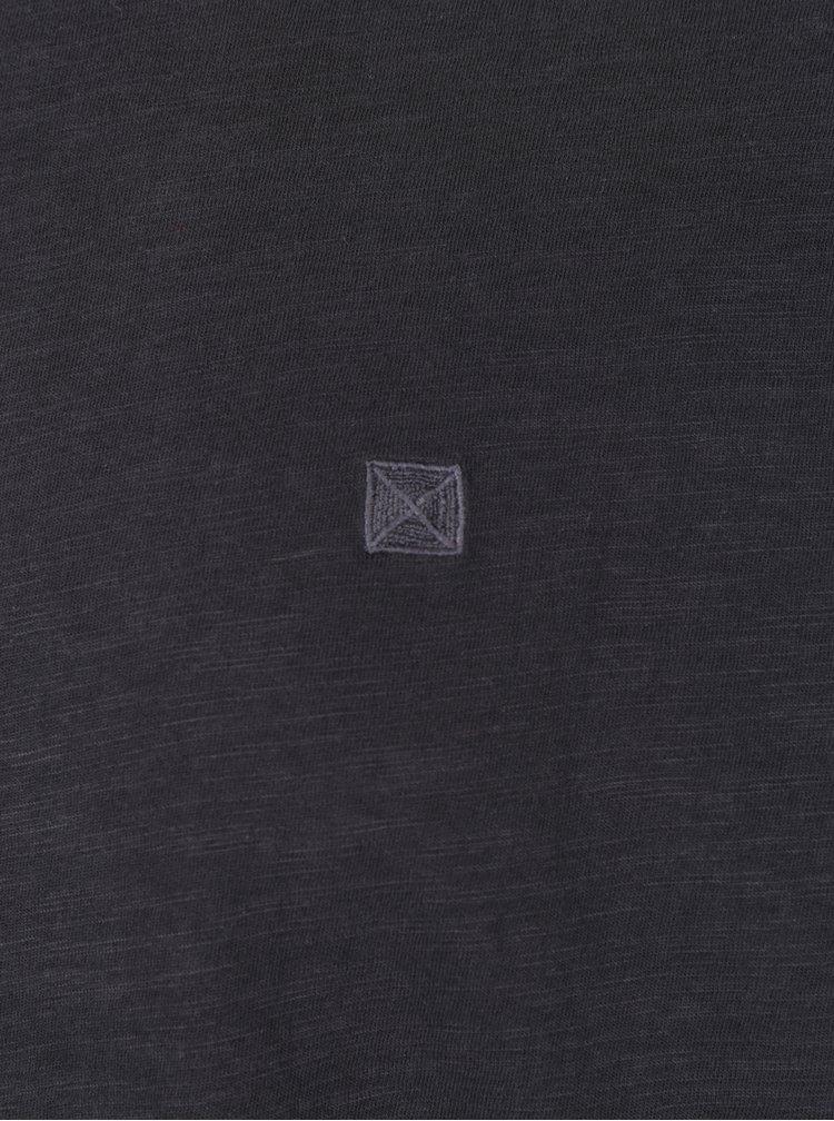 Černé žíhané tričko s dlouhým rukávem ONLY & SONS Alan