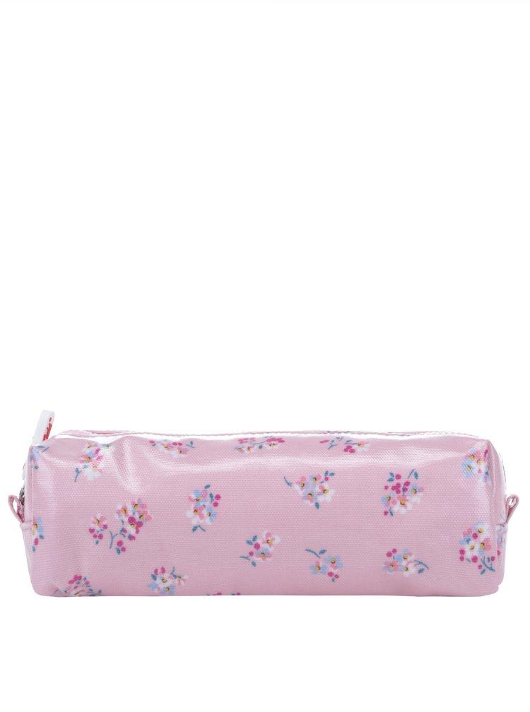 Růžový květovaný penál Cath Kidston