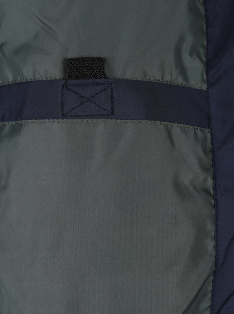Tmavomodrá prešívaná bunda Jack & Jones South