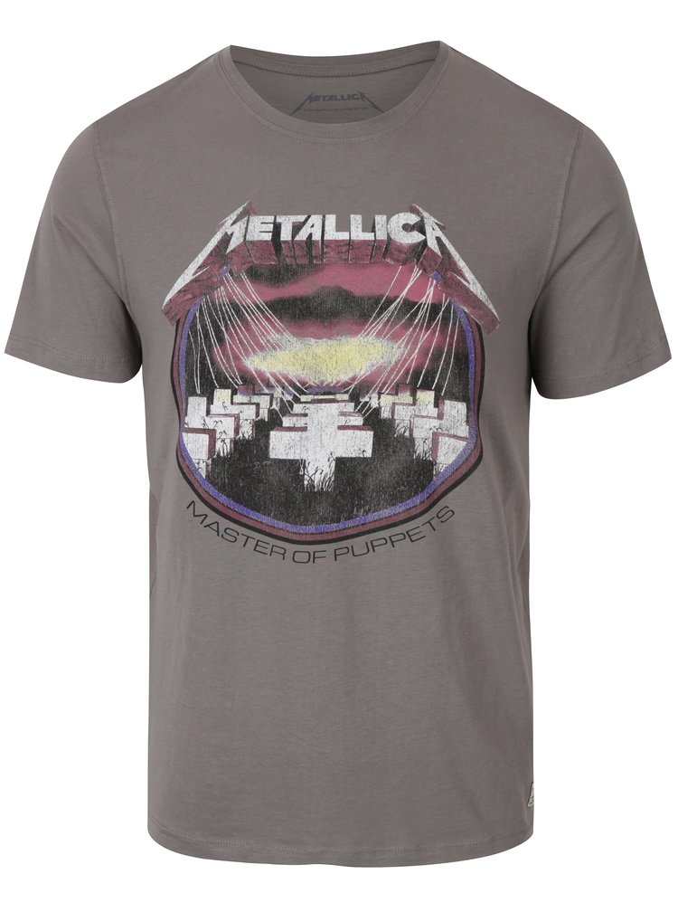 Tricou gri cu print Metallica - Jack & Jones Rock