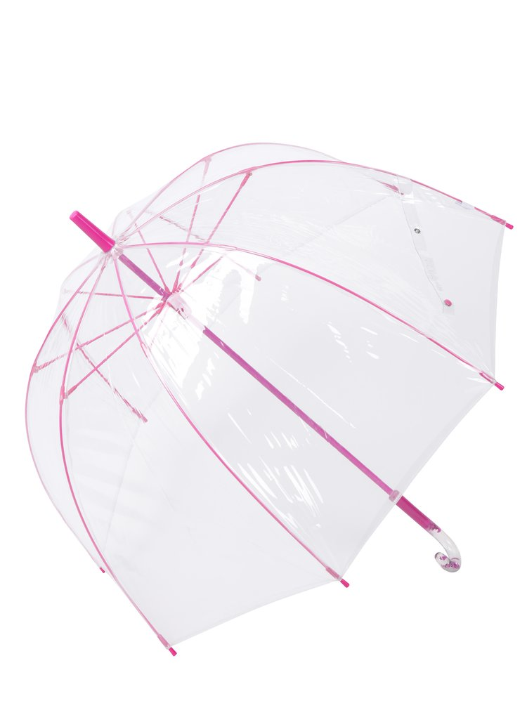 Umbrela transparenta cu detalii roz - Lindy Lou Pinky Dome