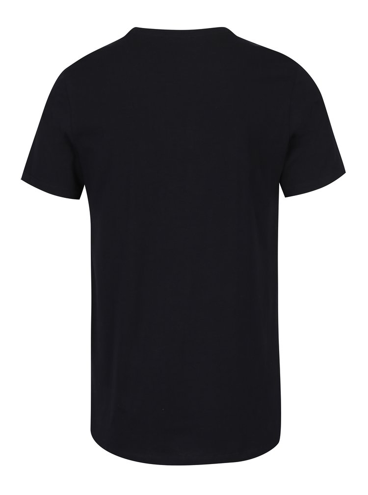 Černé tričko s potiskem Jack & Jones Carlos