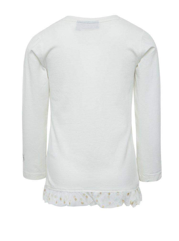 Krémové holčičí tričko s potiskem ve zlaté barvě Mix´n Match