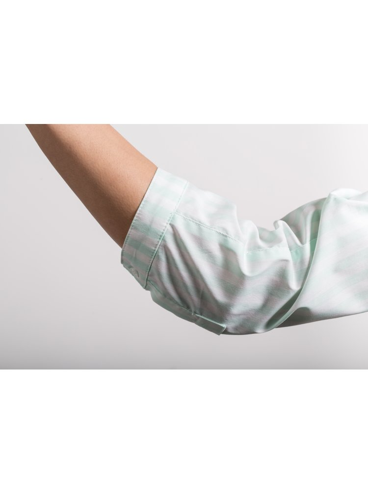 Rochie camasa alb&verde deschis cu maneci lungi Soolista
