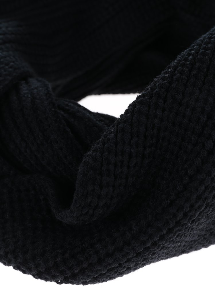 Fular negru circular din tricot Jack & Jones Adam