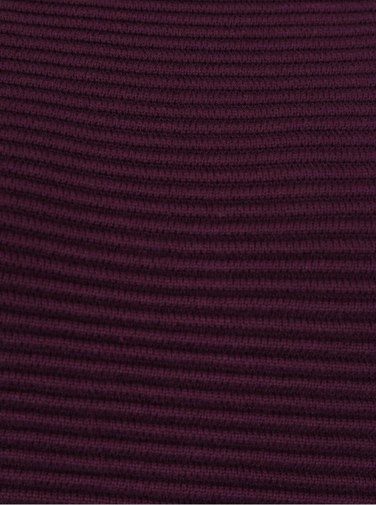Tmavě fialový volný žebrovaný svetr s rozparkem French Connection Sunday