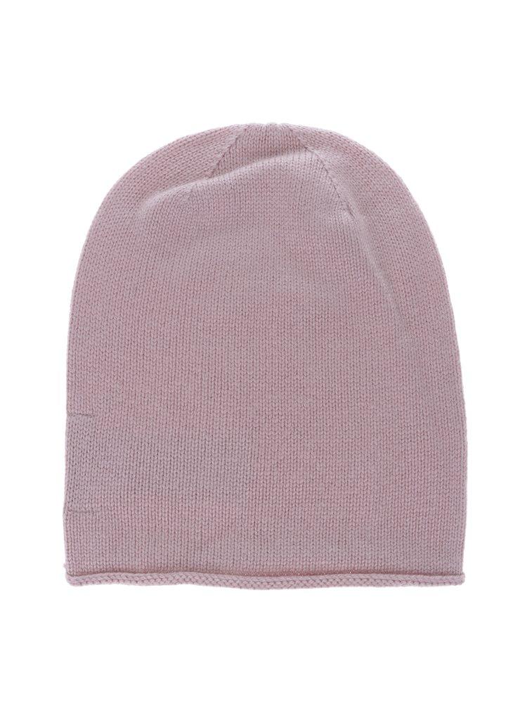 Růžová čepice s příměsí kašmíru Selected Femme Leilana