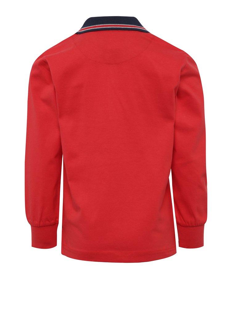 Červené klučičí polo tričko s dlouhým rukávem North Pole Kids