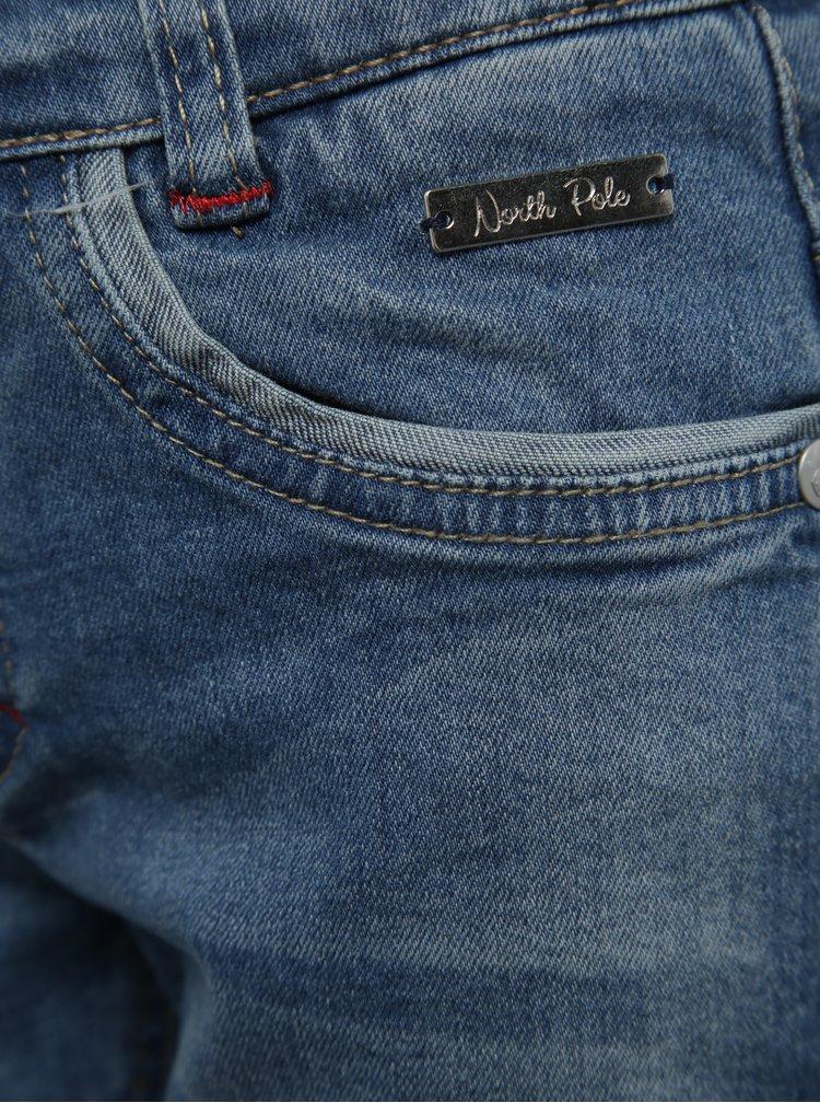 Modré klučičí džíny s potrhaným efektem North Pole Kids