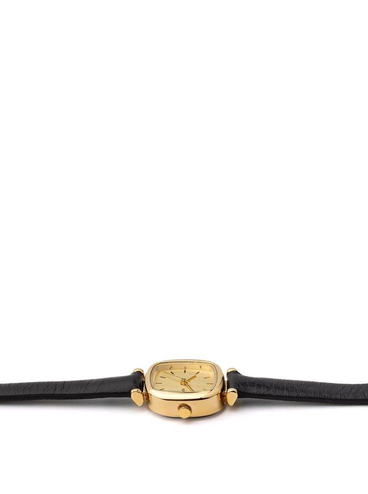 Dámské hodinky s černým koženým páskem Komono Moneypenny