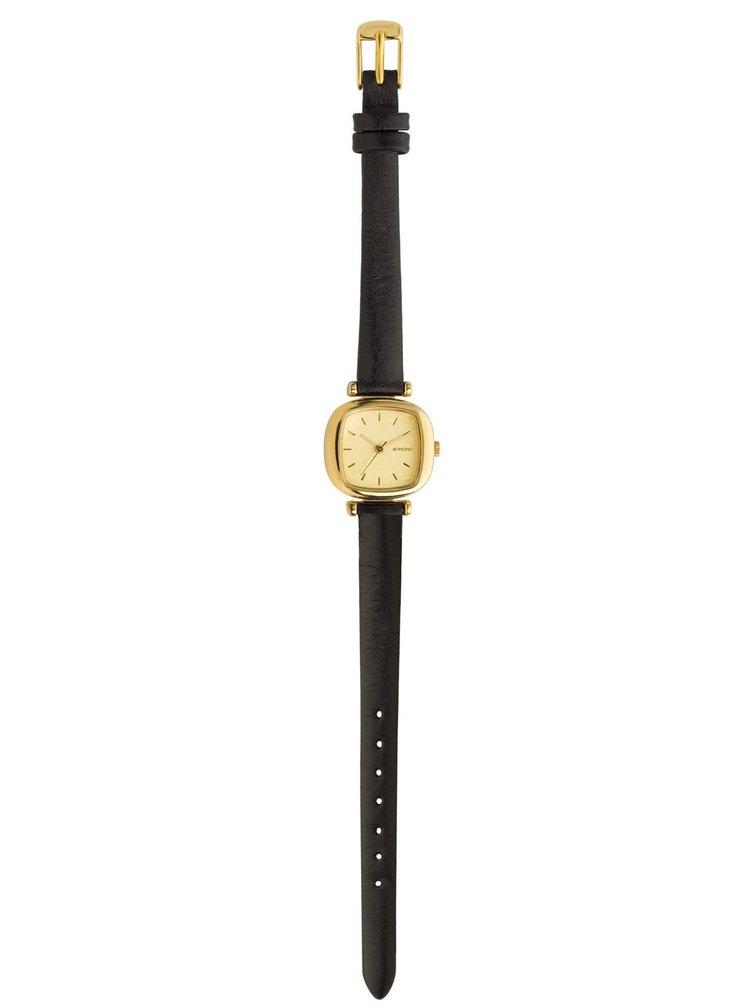 Dámske hodinky s čiernym koženým remienkom Komono Moneypenny