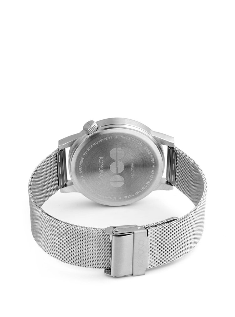 Unisex hodinky ve stříbrné barvě s nerezovým páskem Komono Winston Royale