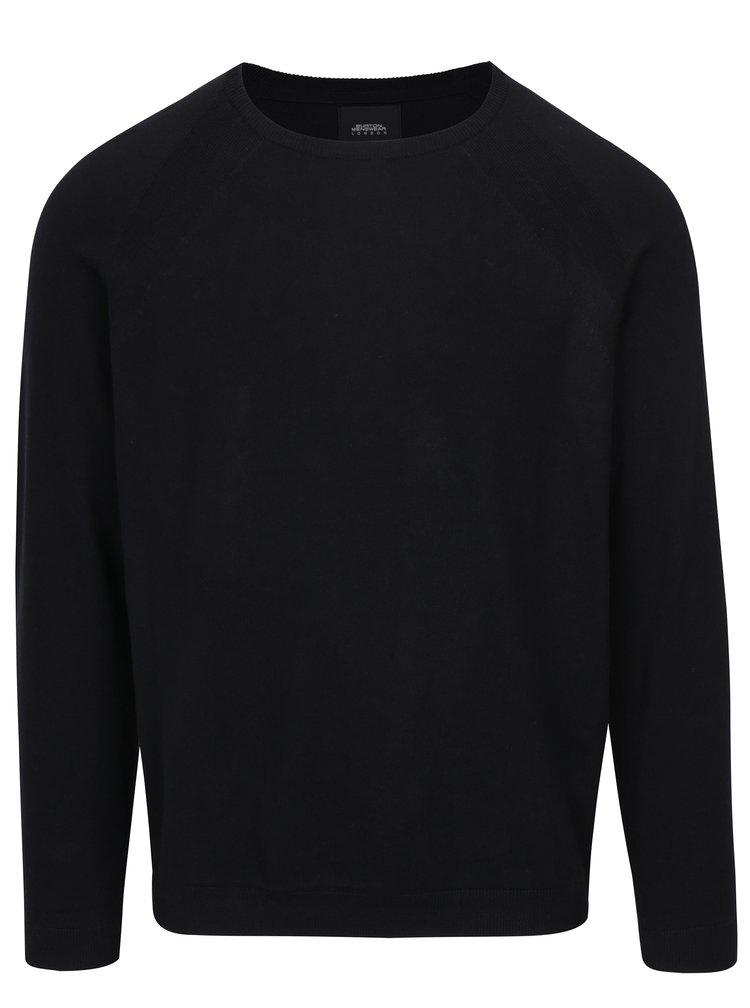 Černý svetr s kulatým výstřihem Burton Menswear London